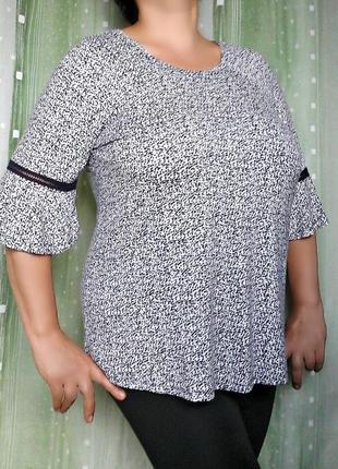 Комфортная блузка с мережкой, 96% вискозы