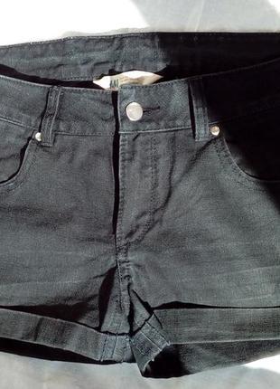 Короткі чорні шортики h&m