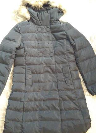 Пуховое пальто от lee coper. супер