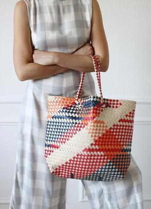 Плетеная сумка-шопер от mango1