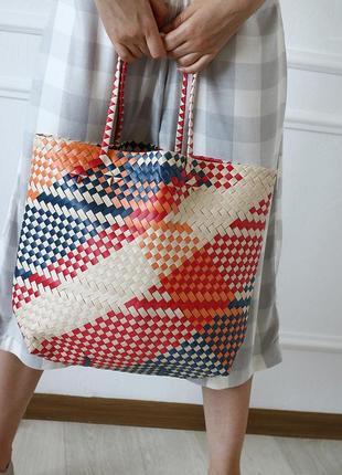 Плетеная сумка-шопер от mango3