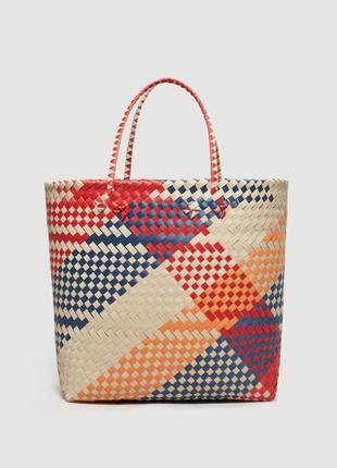 Плетеная сумка-шопер от mango5