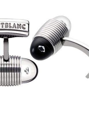 Запонки montblanc 101545 с бриллиантами