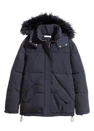 Утеплённая зимняя парка h&m куртка пуховик из дорогой серии 34 (xs) и 36 (s)