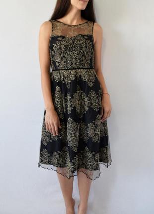 Платье с золотистой вышивкой monsoon