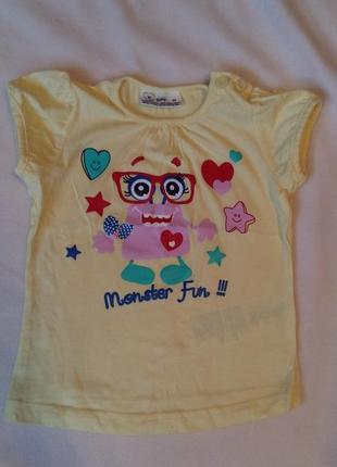 Новая футболка для девочки размер 1,5год/86см