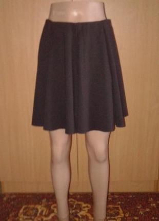 Шикарная трикотажная школьная юбка