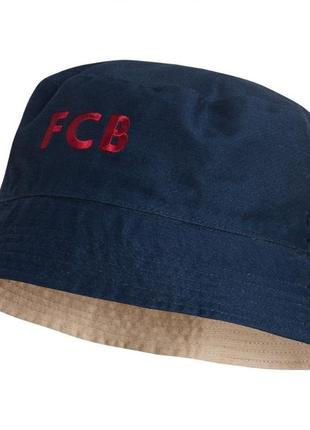 Оригинал двухсторонняя обратимая шляпа кеппи fc barcelona от nike унисекс1