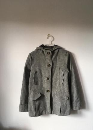 Сіре шерстяне пальто zara - 13-14 років