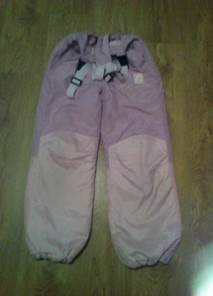 Зимние лыжные штаны девочке 146 рост