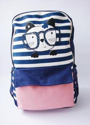 Стильный тканевый рюкзак