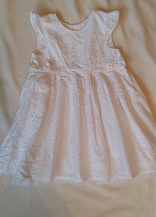 Нарядное платье для девочки размер 1,5/2годика-92см h&m