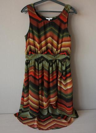 Летнее струящееся платье со шлейфом
