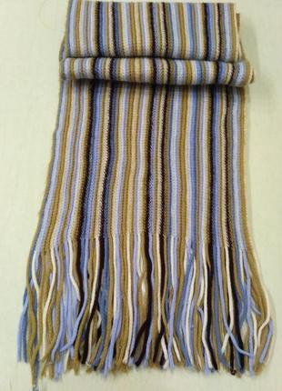 Мягенький полосатый шарф