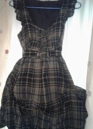 Платье - сарафан new look с драпированной юбкой баллон.
