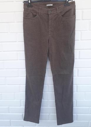 Крутые хлопковые брюки штаны в геометрический принт высокая посадка хлопок.2 фото
