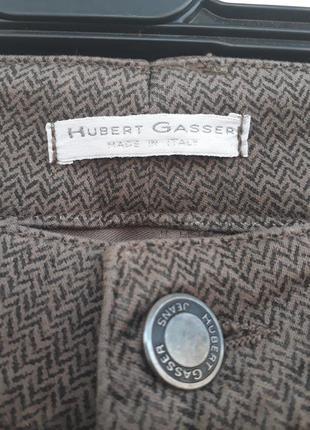 Крутые хлопковые брюки штаны в геометрический принт высокая посадка хлопок.3 фото