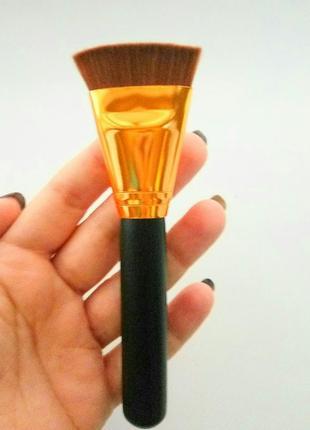 Акция ❤ кисть для макияжа для контуринга плоская прямая с короткий ворсом