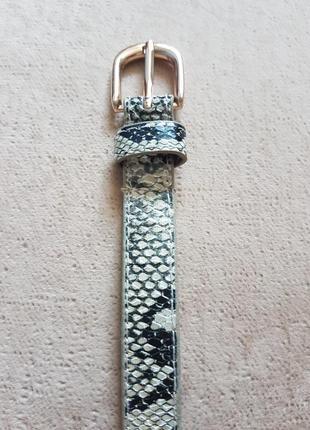 Классный стильный змеиный пояс ремень