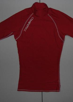 Лайкровая футболка для плавания с уф защитой tribord;m - короткий рукав- франция!!!