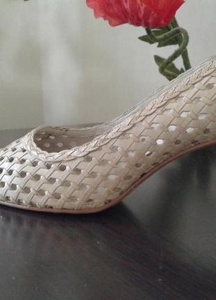 Туфли monarch с перфорацией из натуральной кожи