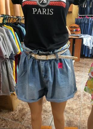 Шорты джинсовые размер l