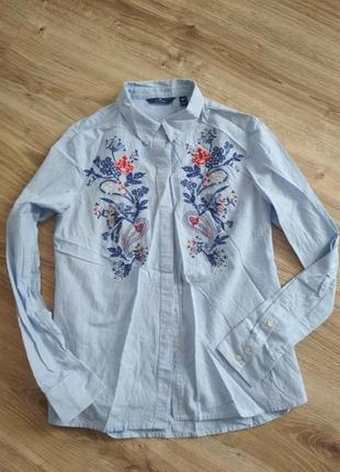 Tom tailor/ рубашка с вышивкой