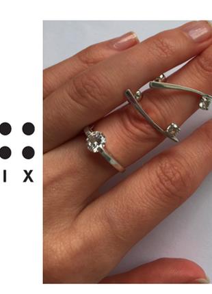 Six** серебро 925 проба / набор: серьги + кольцо