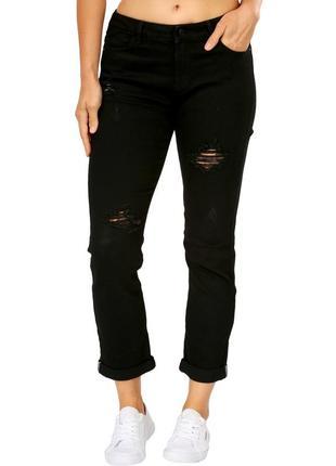 Джинсы гёрлфренды с рваными коленями от new look, размер 50 - 52