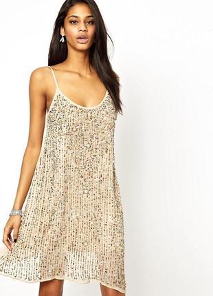 Вискозное платье в пайетках true decadence,р-р 8