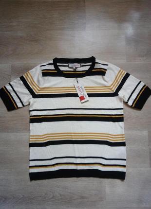Полосатая вязаная футболка principles petite