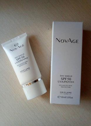 Мультифункциональный защитный крем для лица spf 50 novage новый