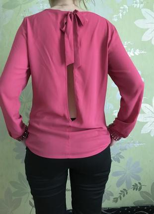 Блуза с красивой спинкой мохито
