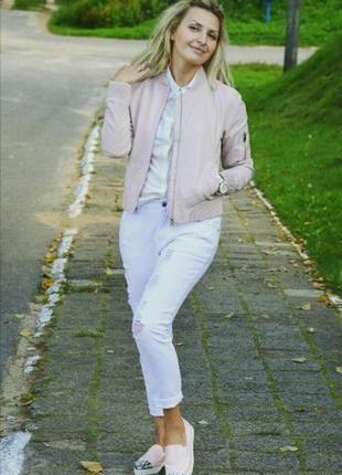 Куртка бомбер из экокожи размер s-m