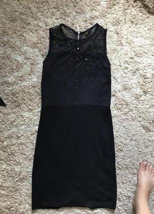 Чёрное платье от мохито
