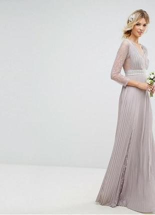 Краствое макси платье свадебное asos