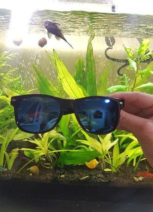 Солнцезащитные очки вайфаер рб wayfarer синие унисекс распродажа сейл дешево sale