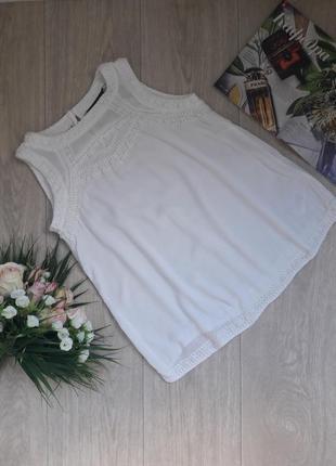 Актуальная блуза разлетайка с вышивкой с(8) new look