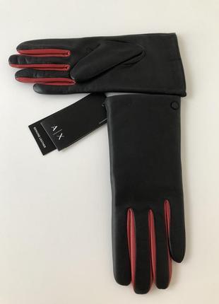 Armani exchange кожаные перчатки оригинал