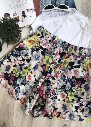 Свободные шорты цветочный принт