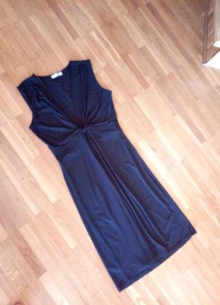Новeнькe котоновe лeгeнькe плаття-майка з драпіровкою на грудях vivanse collection 40p.