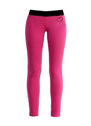Спортивные леггинсы лосины розовые