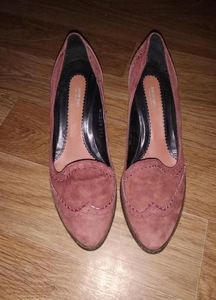 Туфли натуральный замш италия