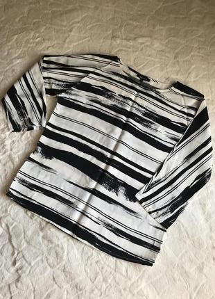 Черно белая блуза more&more
