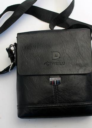 Барсетка, сумка через плечо, прессованная кожа, сумка, мужская сумка