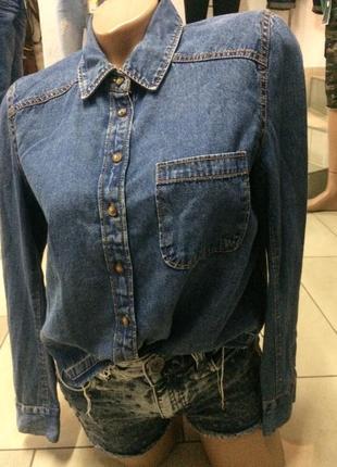 Рубашка джинсова від lost ink