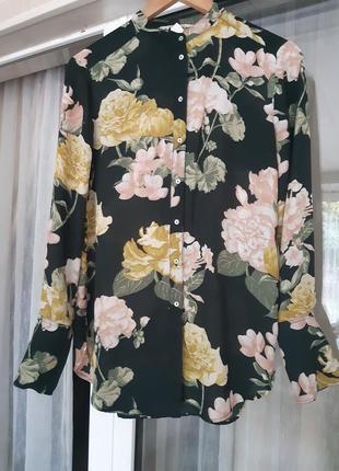 Рубашка в цветной принт от h&m
