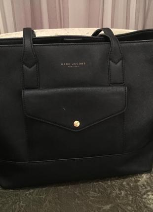 Тоут шопер черная сумка оверсайз marc jacobs