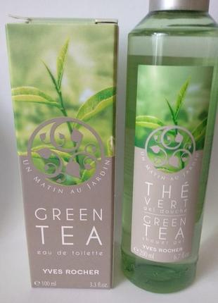 Набор туалетная вода зеленый чай 100мл и гель для душа ив роше