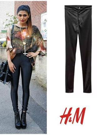 Вечерние брюки штаны стрейчевые скинни s (36-38 евро) от h&m